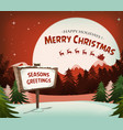 happy christmas holidays background vector image vector image