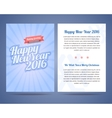 Happy New Year 2016 and Merry Christmas 2016 flyer vector image vector image