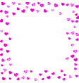 heart frame for valentines day with pink glitter vector image