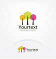 hexagonal trees logo vector image
