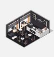 interior coffee shop vector image vector image