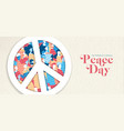 international peace day banner for people freedom vector image vector image