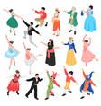 isometric ballet dancers set vector image vector image