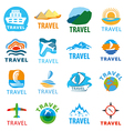 large set of logos for travel vector image vector image