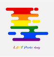 lgbt pride color flag banner rainbow color lgbt vector image vector image