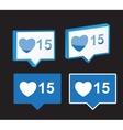 like notification icon vector image