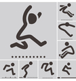 long jump icons vector image vector image