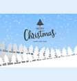 merry christmas banner text and new year gift box vector image vector image