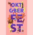 oktoberfest concept tiny characters in german vector image