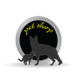 pet shop icon vector image vector image