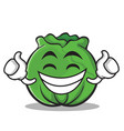 proud cabbage cartoon character style vector image vector image