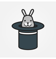 Rabbit In Magic Hat Icon Background vector image