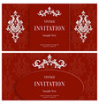 red floral 3d background template vector image vector image