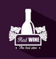 red wine bottle label vector image vector image
