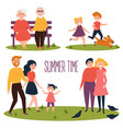 rest in the park at the summer time flat vector image