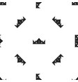 royal crown pattern seamless black vector image vector image