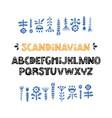 scandinavian font vector image