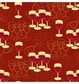 Seamless pattern with wine glass vector image