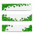 set frames with green shamrocks vector image vector image