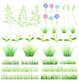 set of elements of grass vector image vector image