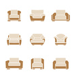 Set of stylish armchairs vector image vector image