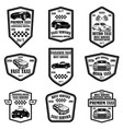 set taxi service emblems design elements vector image