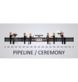 The opening ceremony of the pipeline vector image vector image