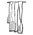 towel vector image vector image