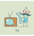 TV repair man vector image vector image