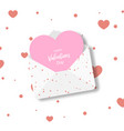 valentine day greeting card in the form of a vector image vector image