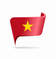 vietnamese flag map pointer layout vector image