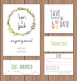 wedding invitation card set vector image vector image