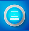 white laptop update process with loading bar icon vector image vector image