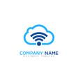wifi cloud logo icon design vector image
