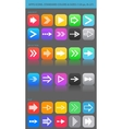 Apps navigation icons set with arrows for UI vector image