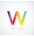 colorful logo letter w vector image