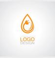 drop water electricity logo vector image
