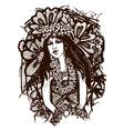 Tahitian girl vector image