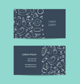 business card template for dairy shop or vector image