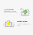 internet security and data protection cyber vector image