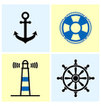 Nautical Symbols Set vector image
