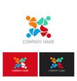teamwork colorful people logo vector image