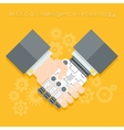 Artificial intelligence Businessman and robot vector image