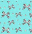 graphic bows with hearts cute woman vector image