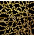 Retro black golden pattern stripes design vector image
