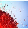 Abstract background with broken surface explosion vector image vector image
