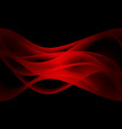 abstract red wave curve smooth in black vector image vector image
