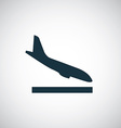 airplane landing icon vector image