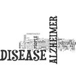 alzheimer s disease how does the disease develop vector image vector image