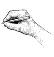 artistic or drawing of hand writing or sketching vector image vector image